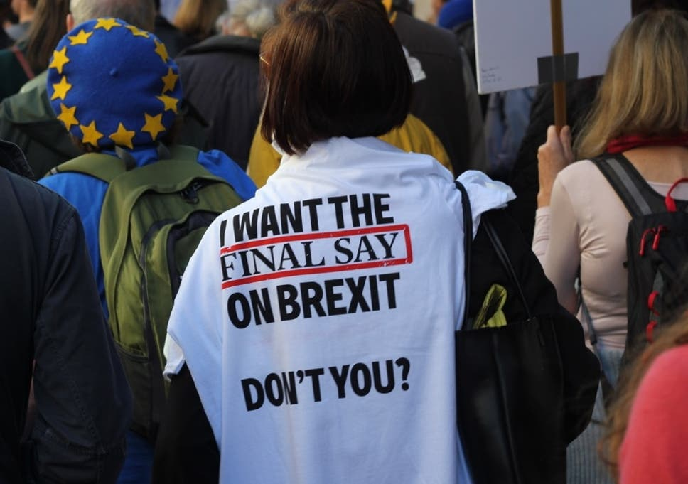Marchers demand a Final Say referendum in London