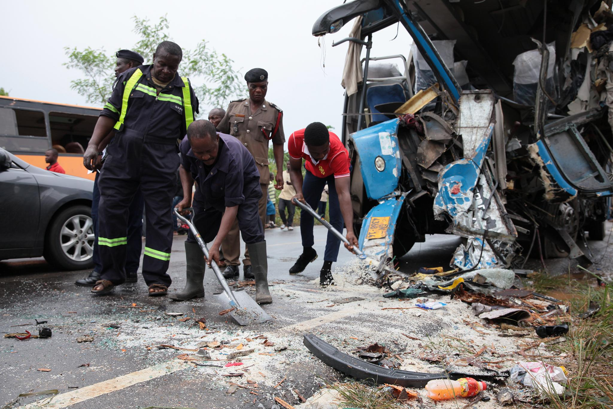 Ghana bus crash: At least 60 killed after two loaded coaches