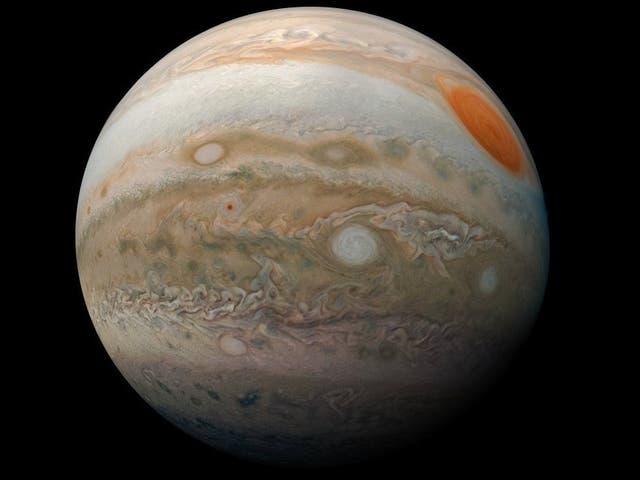 <p>Nasa's Juno spacecraft took this picture of Jupiter during a recent orbit </p>