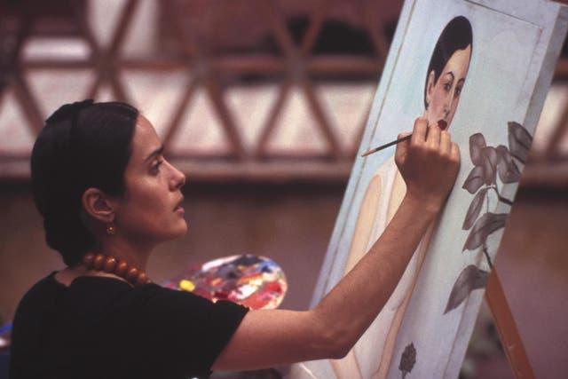 Salma Hayek in Frida, the biopic about artist Frida Kahlo