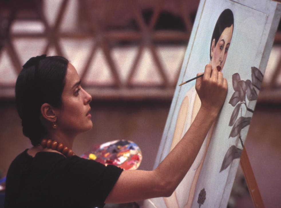 Salma Hayek in Frida, the biopic about artist Frida Kahlo