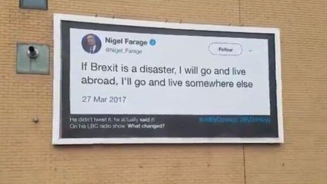 Nigel Farage has spent his political career campaigning for the UK to leave the EU.
