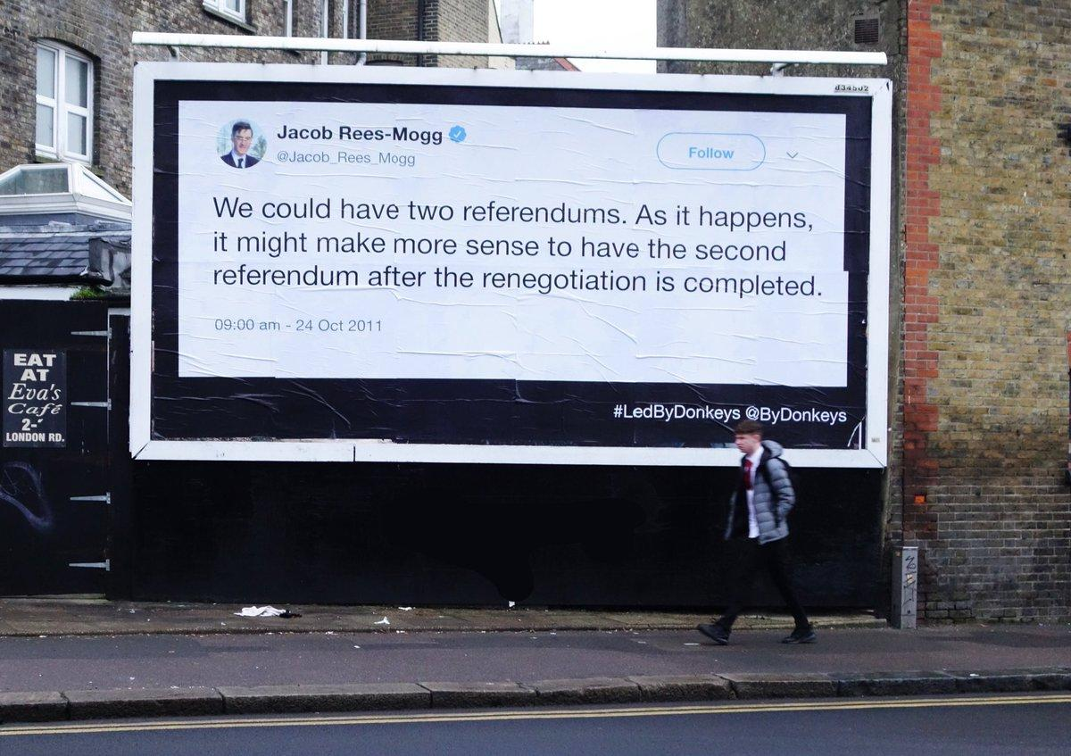 Brexit hypocrisy highlighted by nationwide billboard campaign
