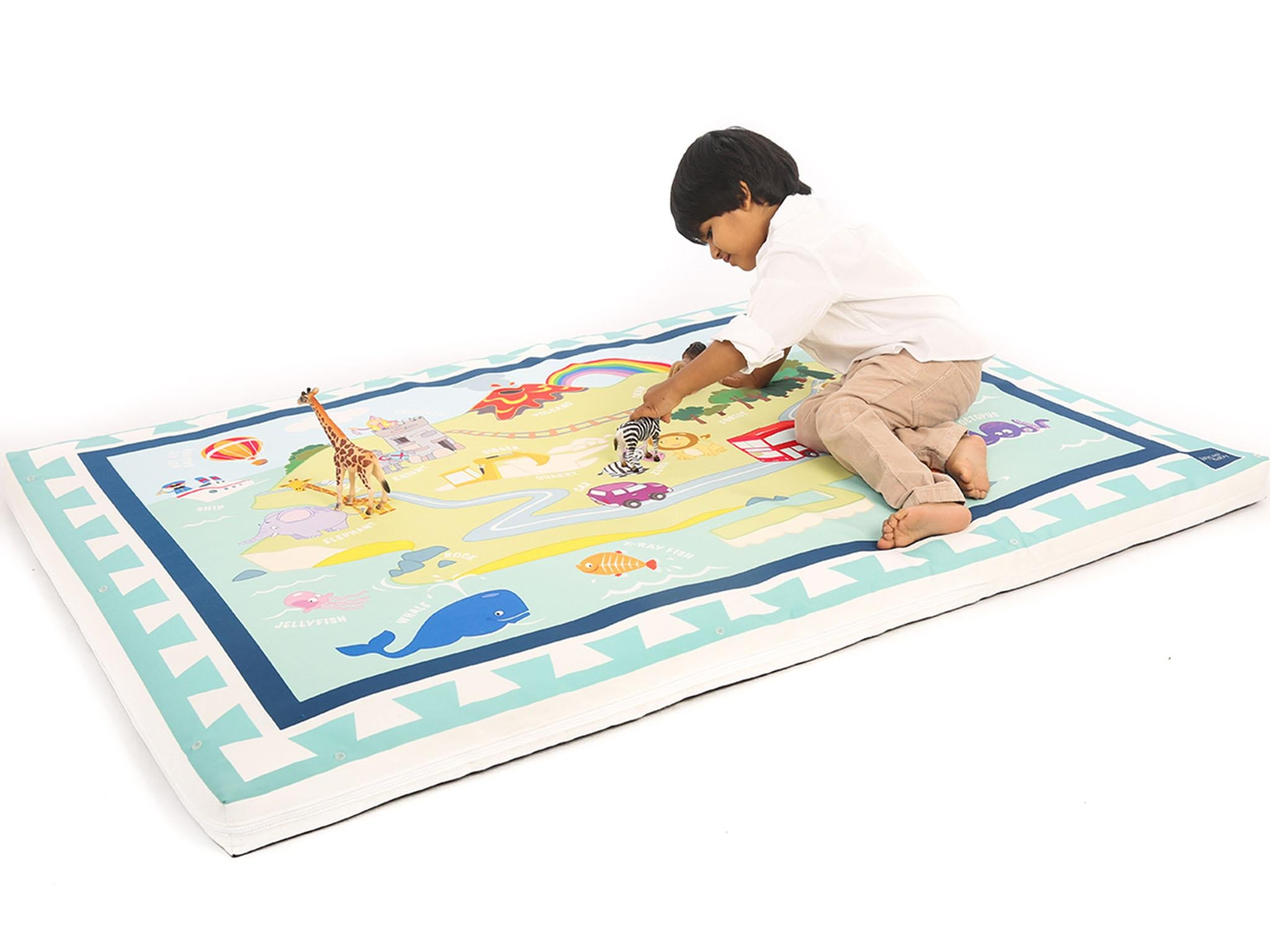 Baby Care Soft Double Sided Play Mat//Protecting Playmat Large Happy Cloud