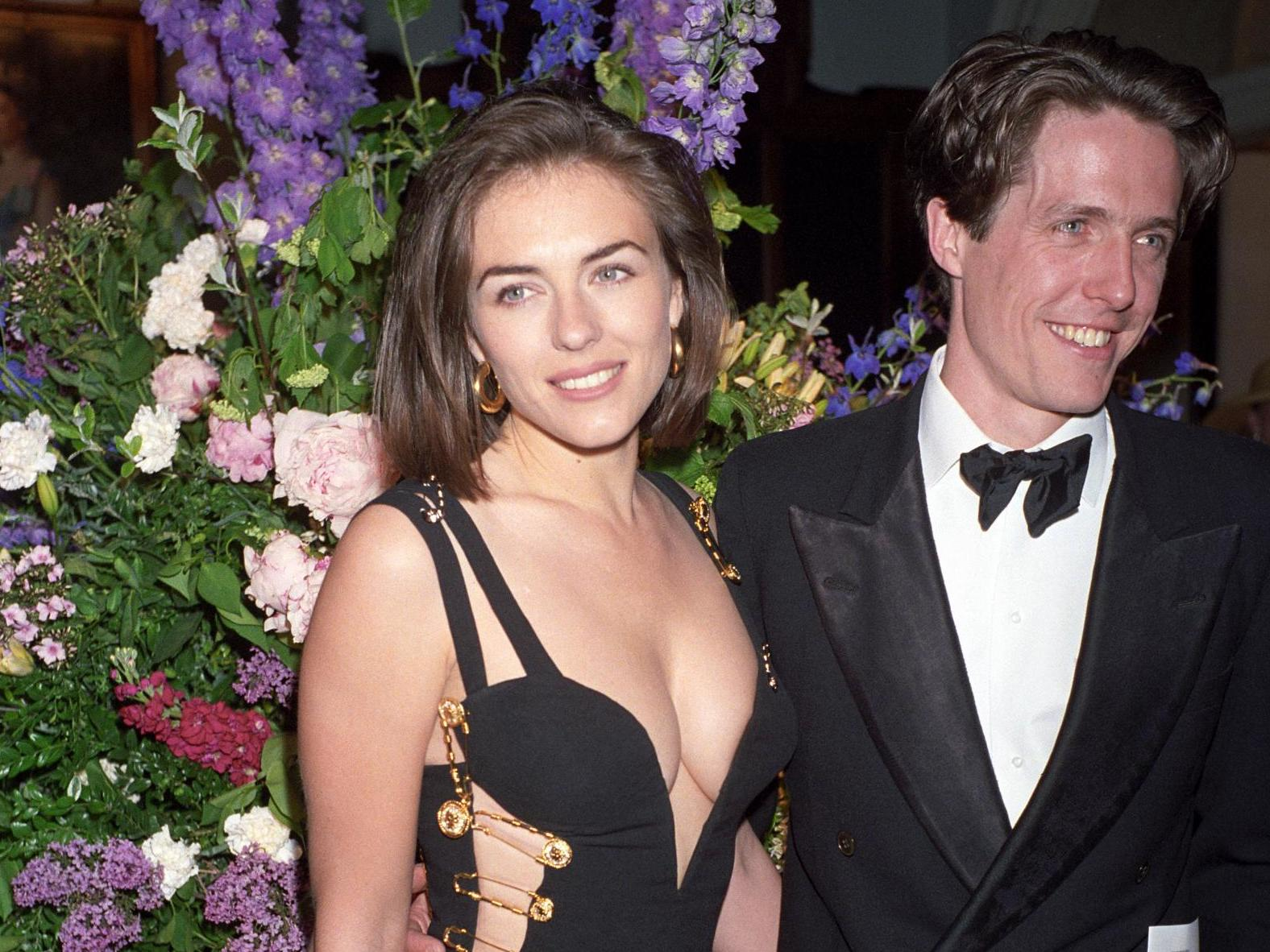 Elizabeth Hurley recreates iconic Versace safety pin dress 25 years on