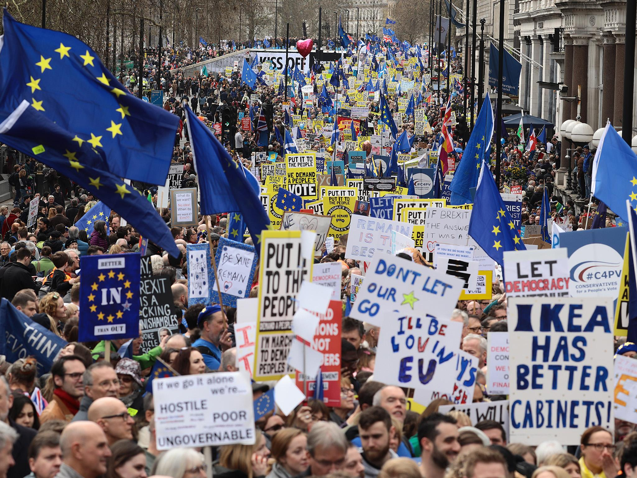Brexit: Huge march calling for fresh referendum to be held less than two weeks before 31 October deadline for leaving EU