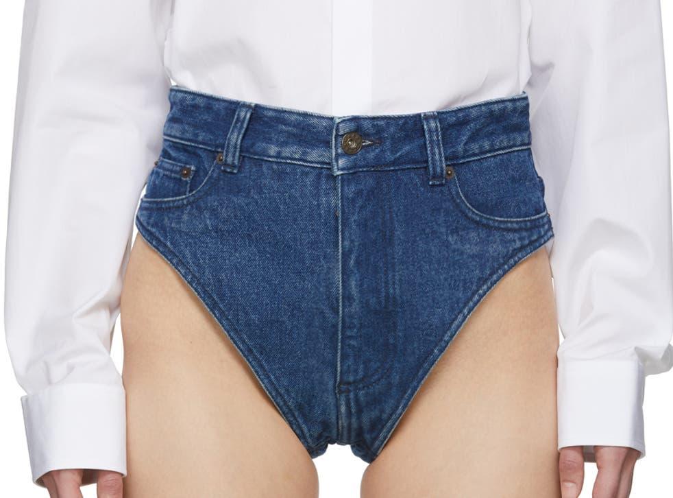 Y/Project 'Navy Denim Panties'