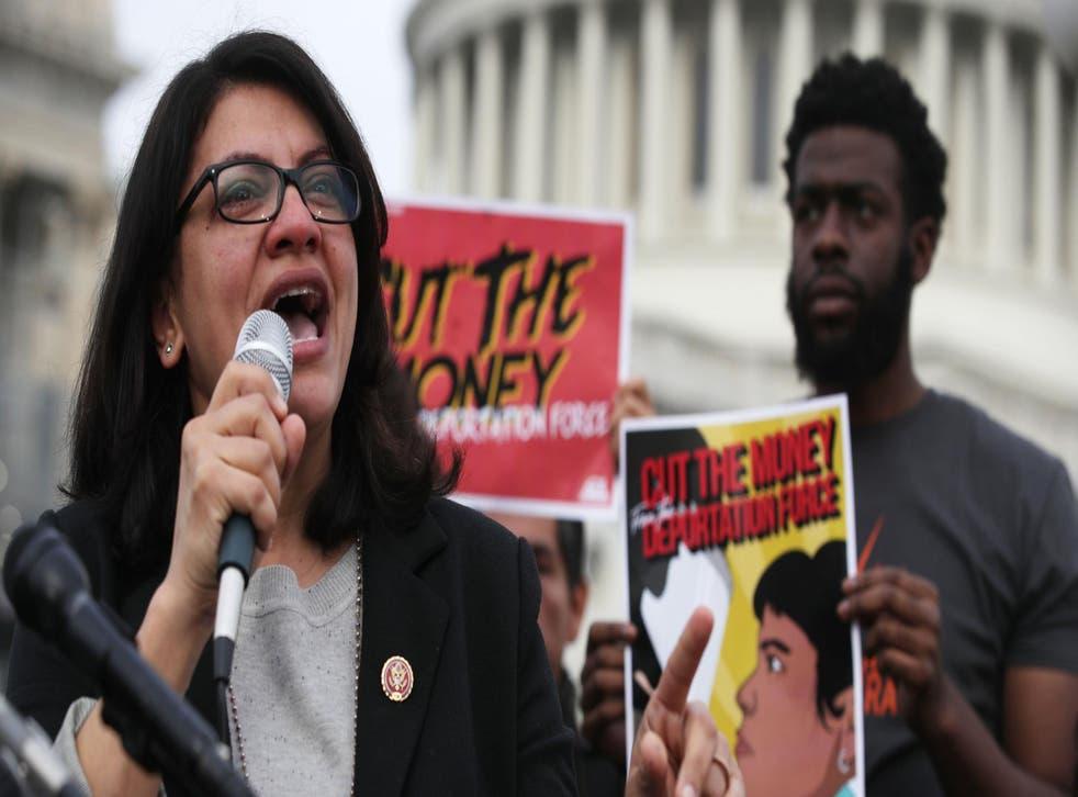 Rashida Tlaib calls on Congress to cut funding for President Trump's 'deportation force'