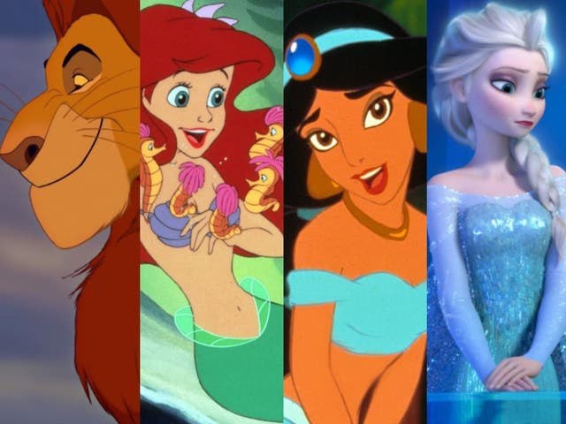 Animation celebration: (from left) 'The Lion King', 'The Little Mermaid', 'Aladdin' and 'Frozen'