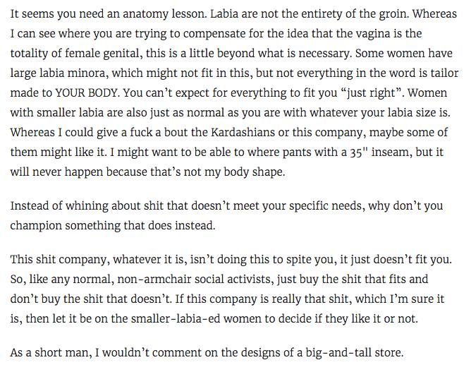 Angry man tries to mansplain labias to female writer  Yes