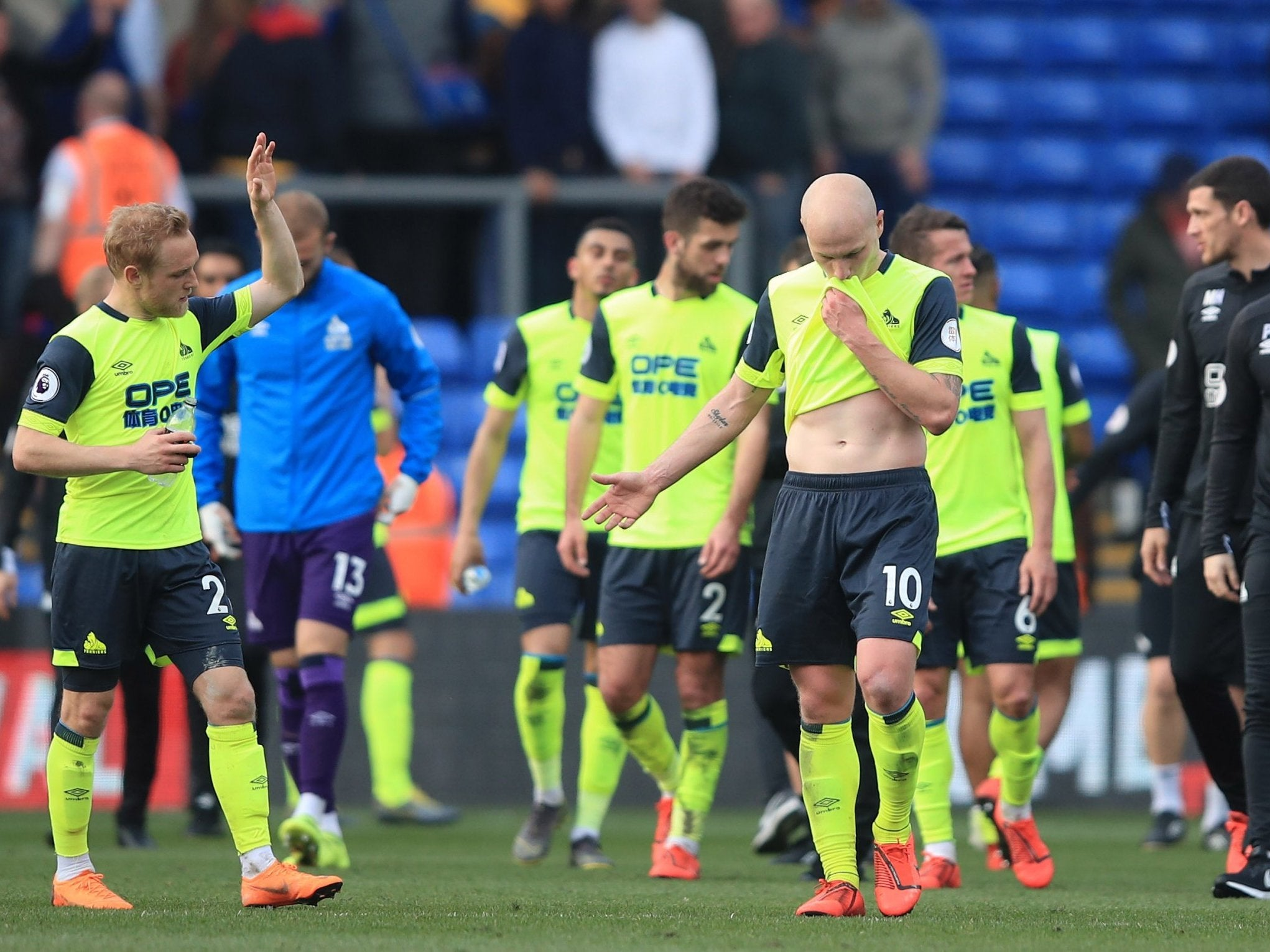 011122be050 Huddersfield relegated: Terriers defeated by Crystal Palace to equal  earliest Premier League relegation | The Independent
