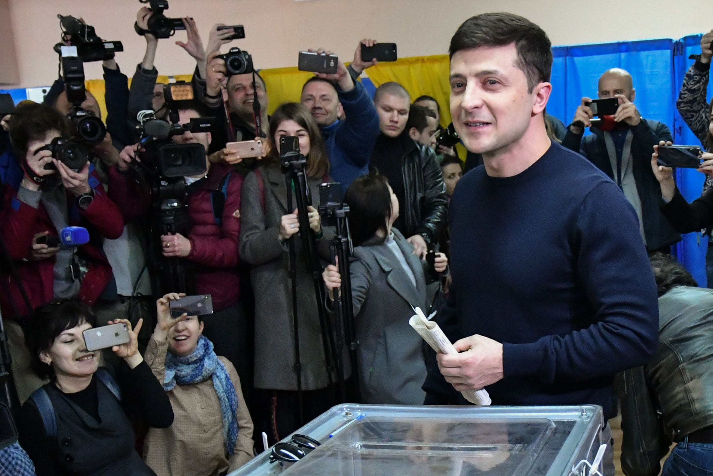 He finds laughter in the tragedy': Comedian Volodymyr Zelensky set