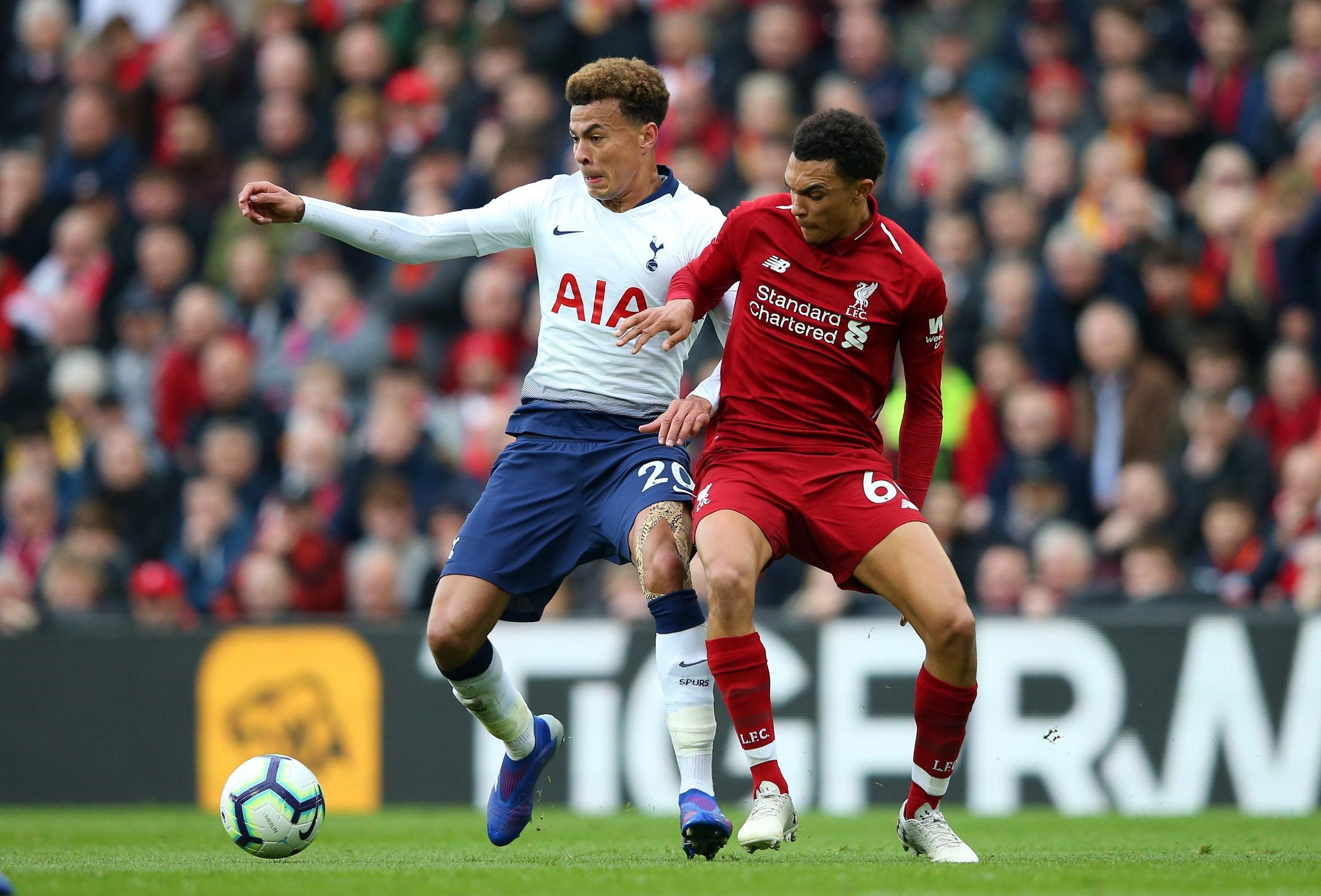 38eeb2afe Liverpool vs Tottenham  Andrew Robertson and Trent Alexander-Arnold ...