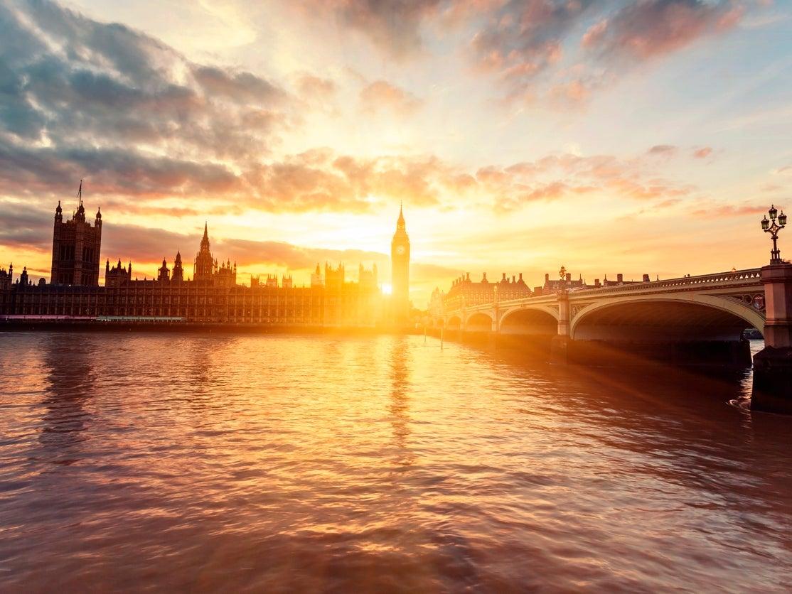 WESTMINSTER ABBEY /& BRIDGE LONDON ENGLAND UK PAINTING ART REAL CANVAS PRINT