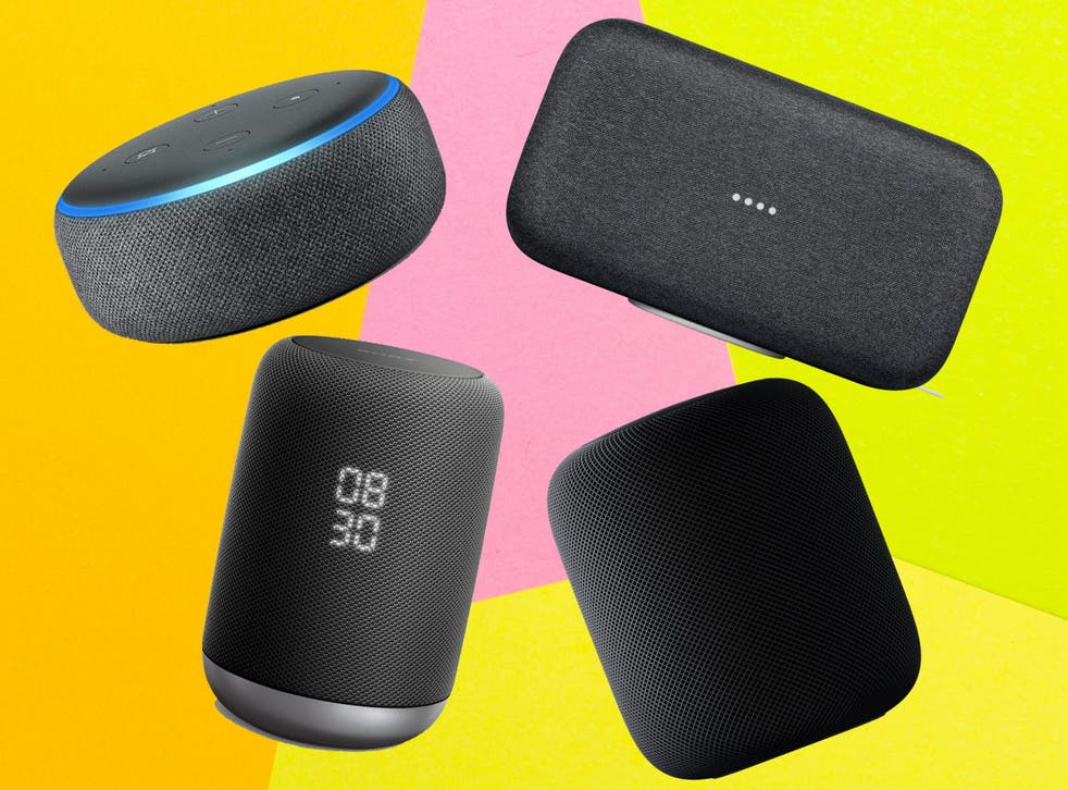 As well as playing music, smart speakers can turn compatible lights or thermostats up or down, answer questions and tell you a joke