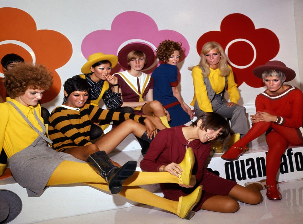 Mary Quant and models at the Quant Afoot footwear collection launch, 1967