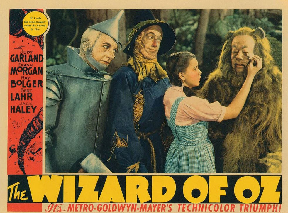 An original poster for 'The Wizard of Oz', the most-watched film in movie history, according to the Library of Congress