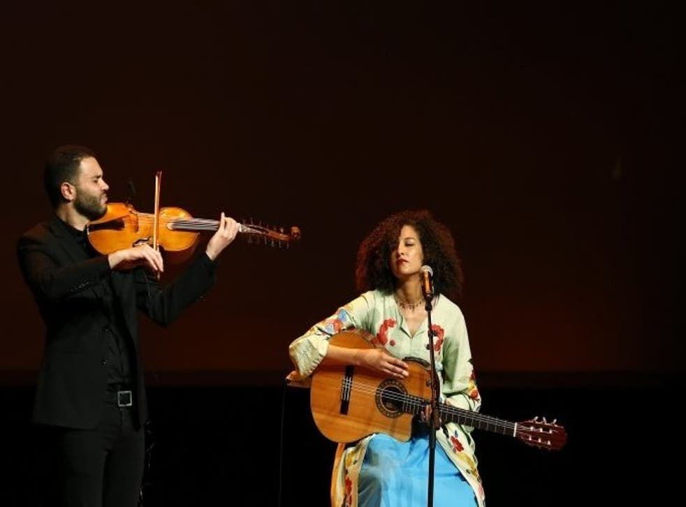 Badiaa Bouhrizi, laureate in the domain of Social Inclusion, performing at the gala concert on 31 March