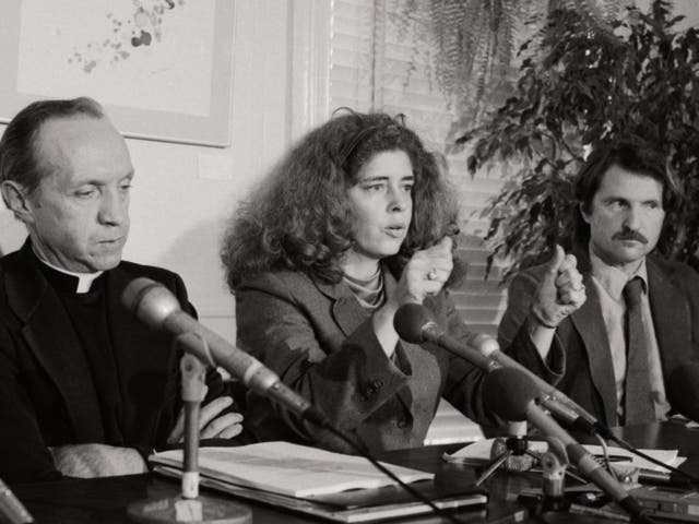 At a 1984 press conference, Tucker describes how Karen Silkwood was killed
