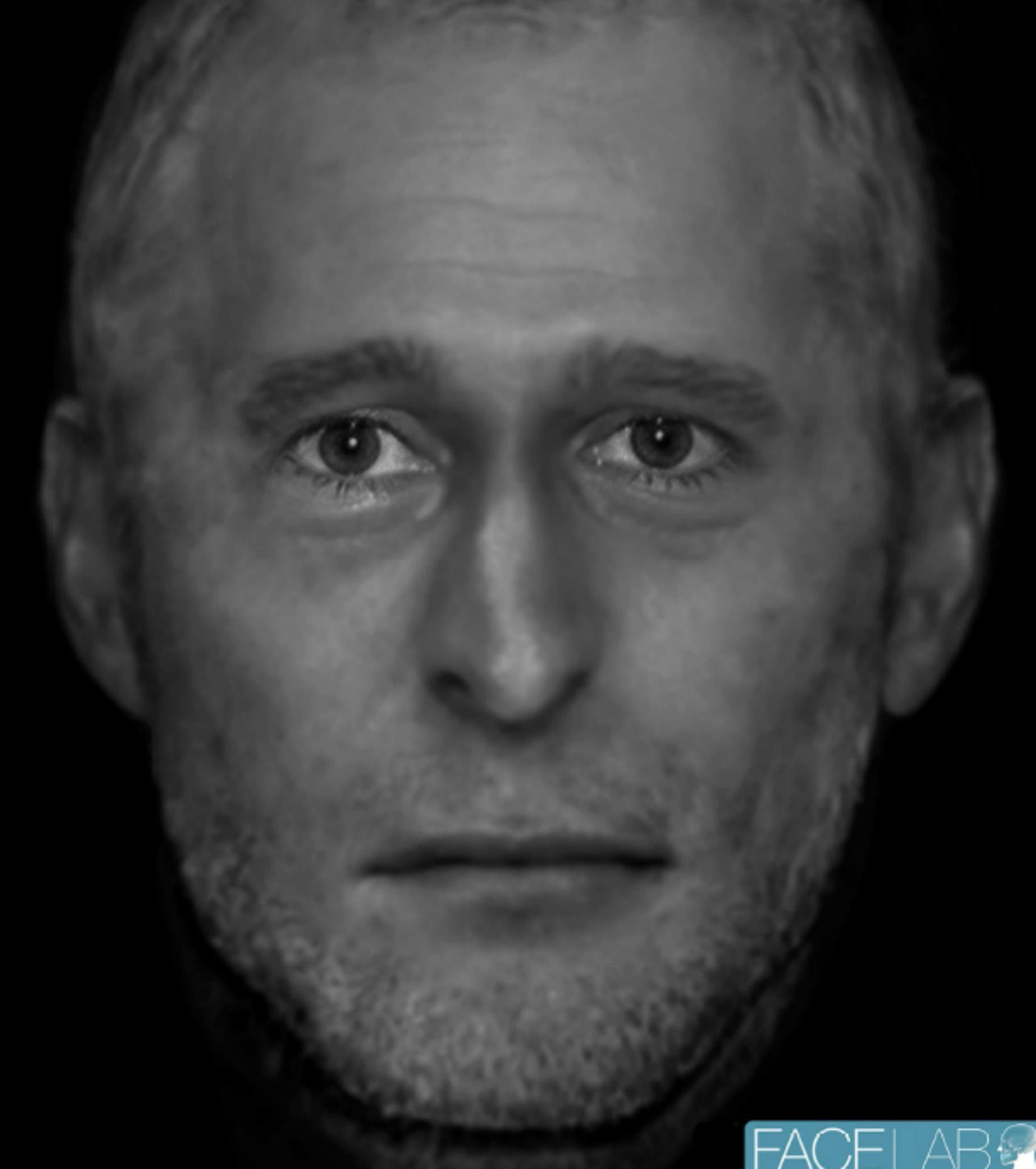 Face of mystery man found dead in woods reconstructed as police