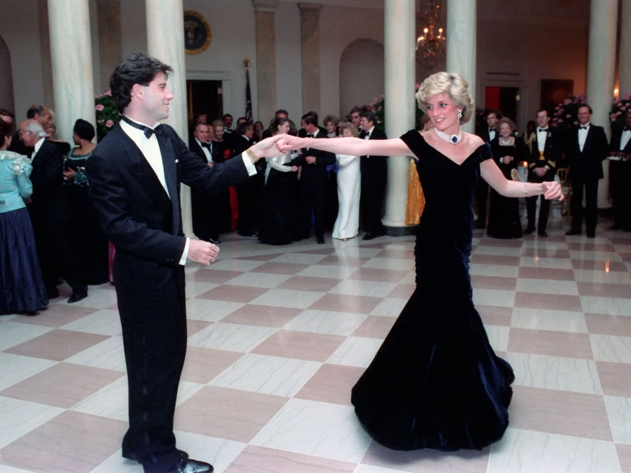 Princess Diana's 'Travolta gown' sells at auction for £264,000