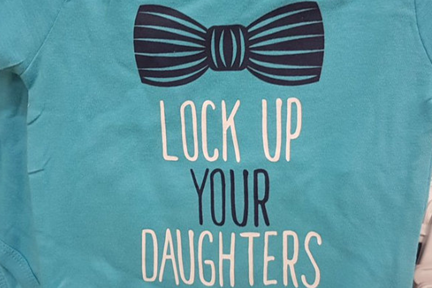 Mother says Poundland 'lock up your daughters' babygrow encourages boys to be 'sex pests'