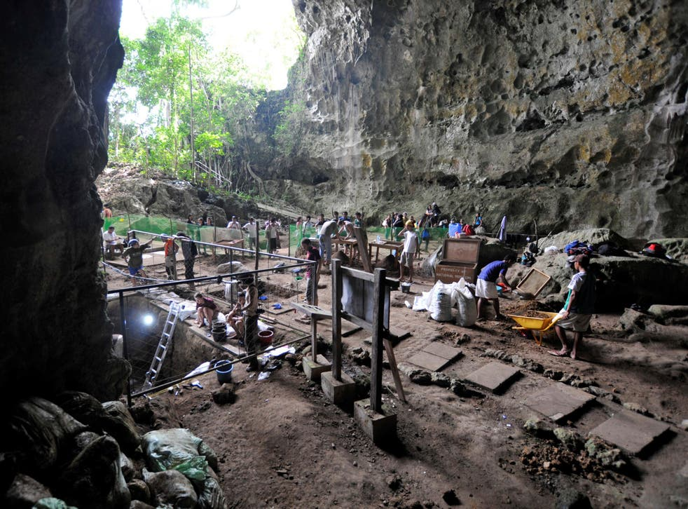The cache of bones and teeth were discovered in Callao Cave on Luzon, The Philippines