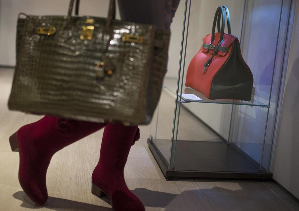 a4eed99f2c09 A Birkin 35 on display at a Christie's exhibition of rare handbags and  vintage clothing