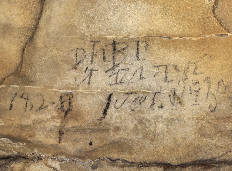 Figure3. Cherokee syllabary inscription from 1.5km into Manitou Cave