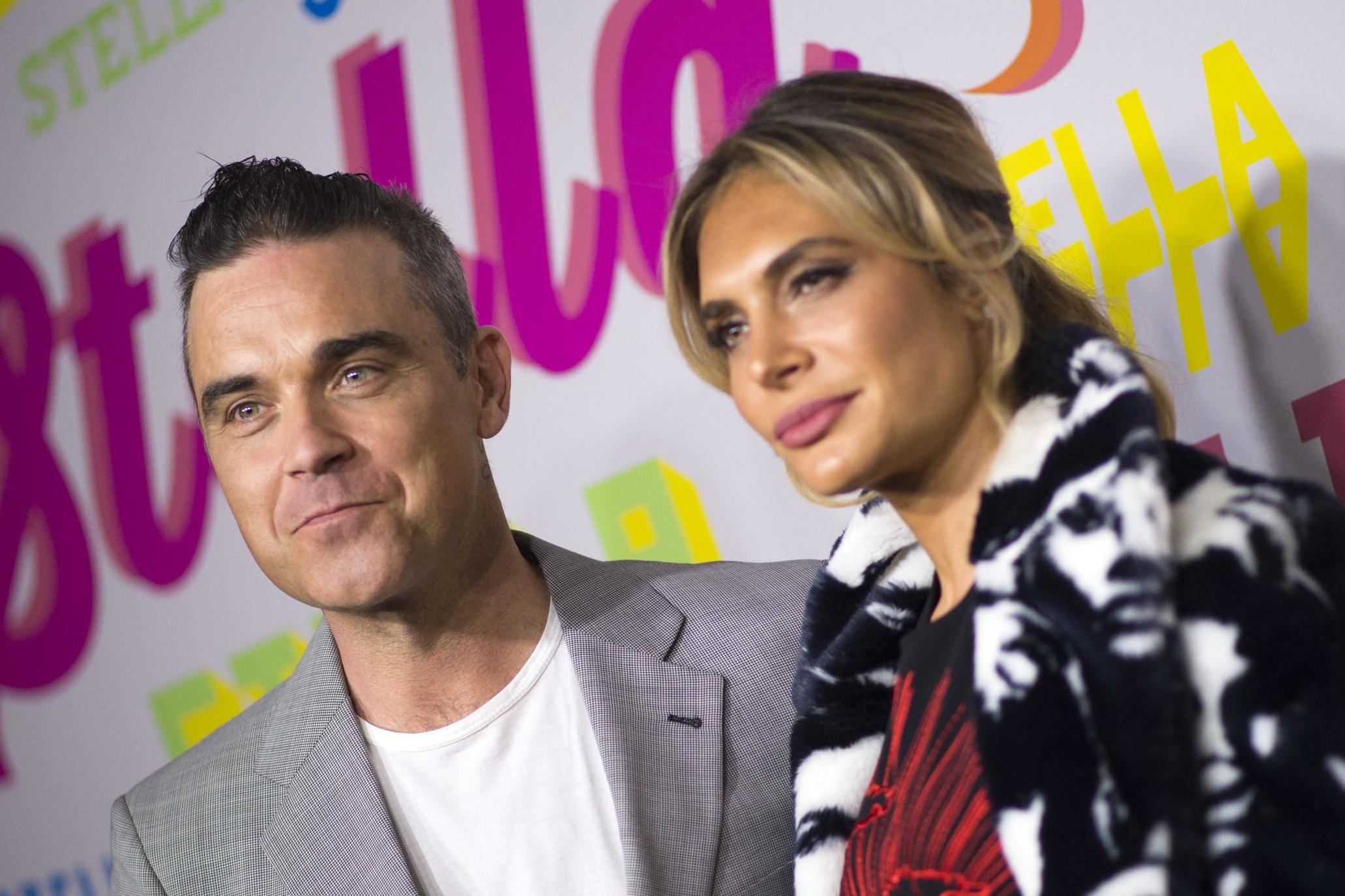 Robbie Williams and Ayda Field exit The X Factor