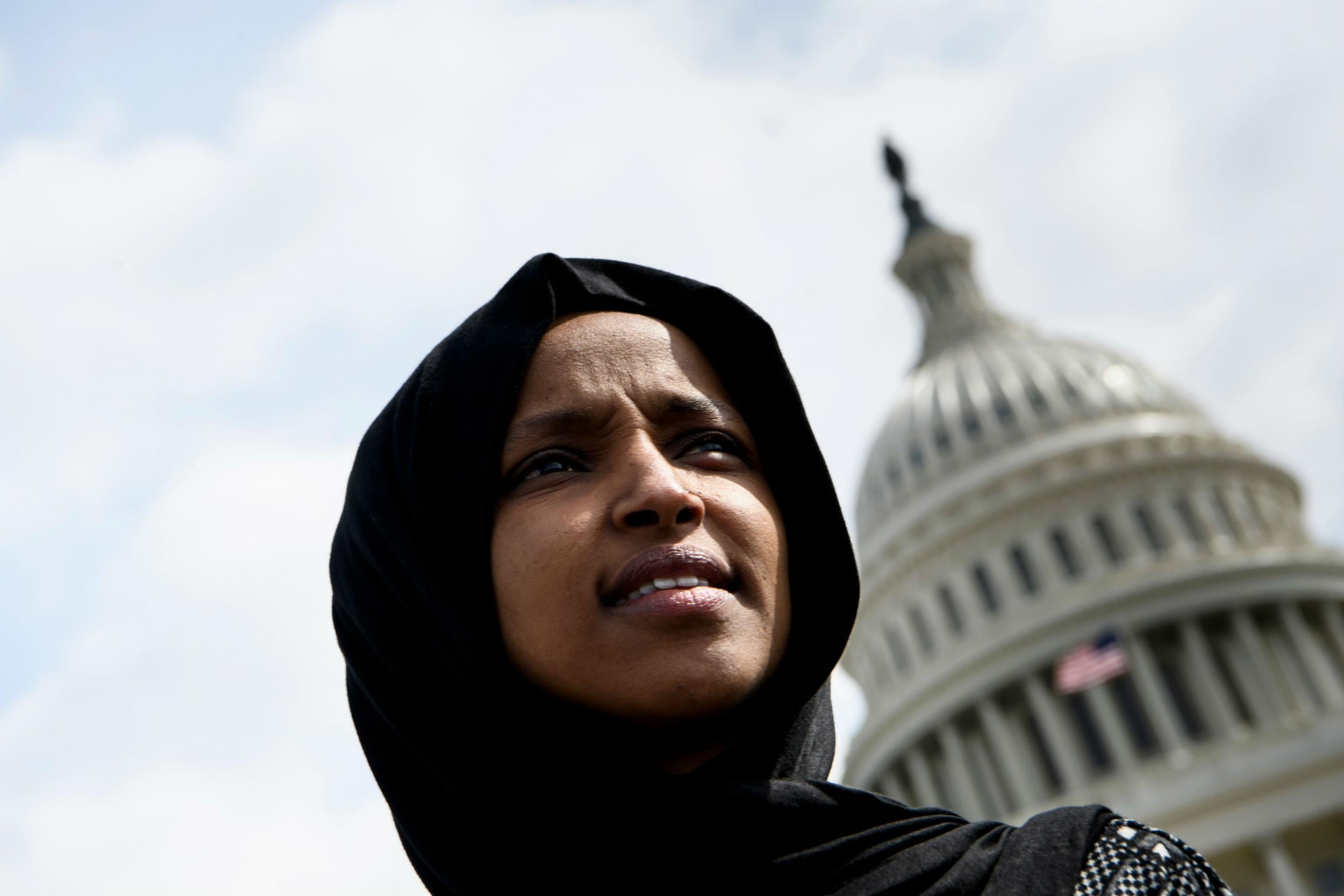 trump attacks ilhan omar over 9  11 remarks with