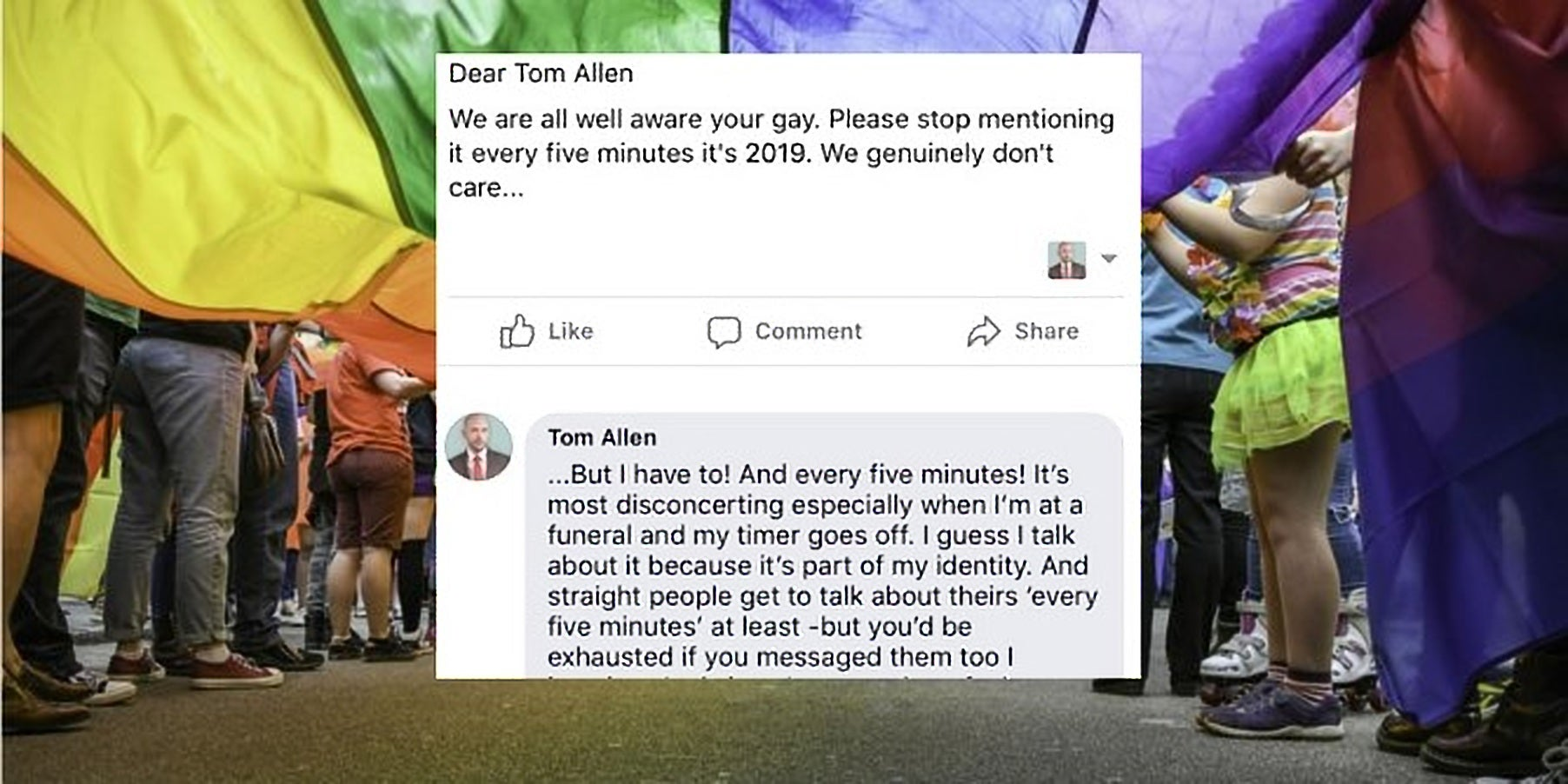 Comedian responds perfectly to troll who asks him to 'stop