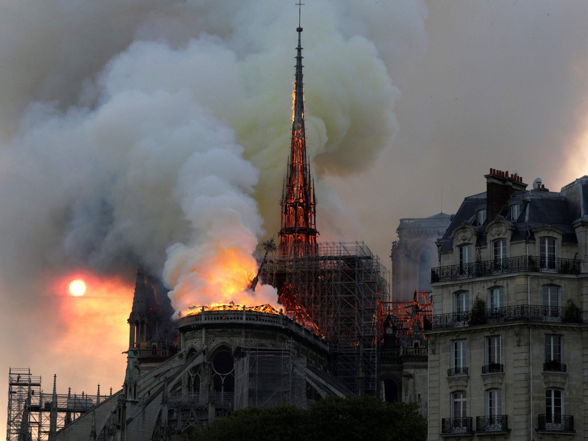 Notre Dame cathedral fire: Video shows moment centuries-old