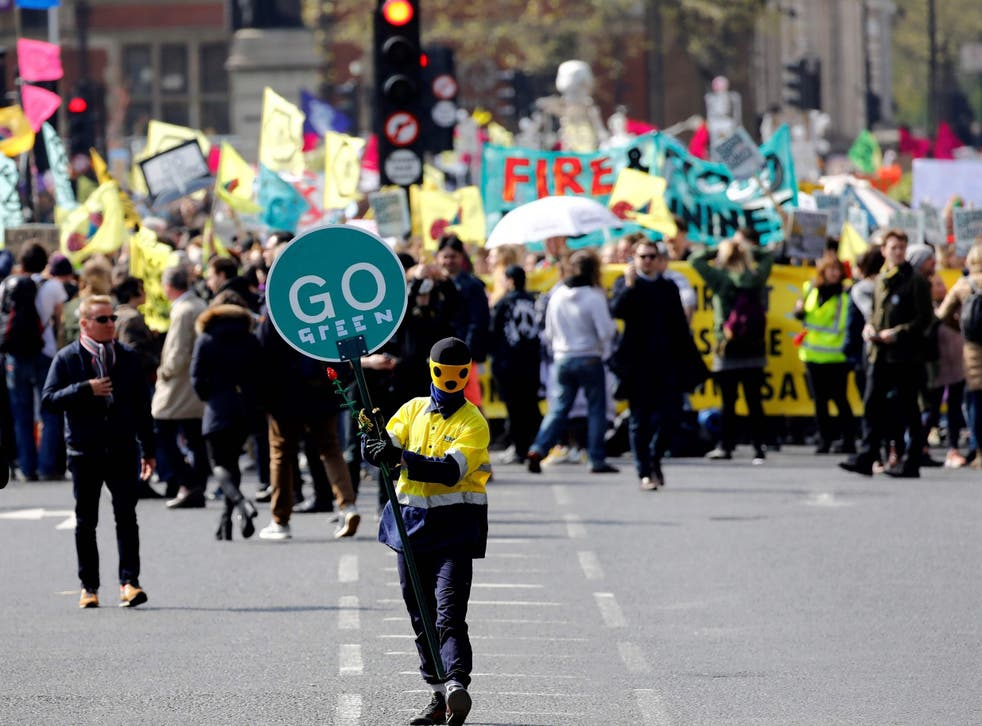 <p>Extinction Rebellion protesters in 2019 </p>