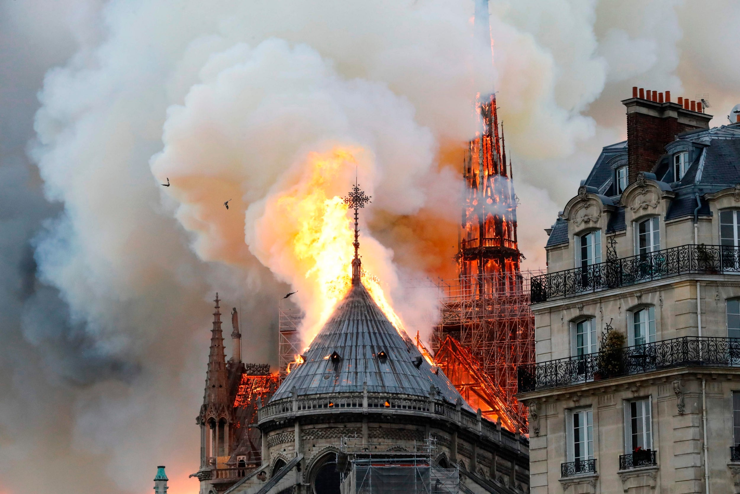 Notre Dame fire - live updates: Cathedral may be entirely destroyed as blaze rages on in centre of Paris destroying the historic landmark