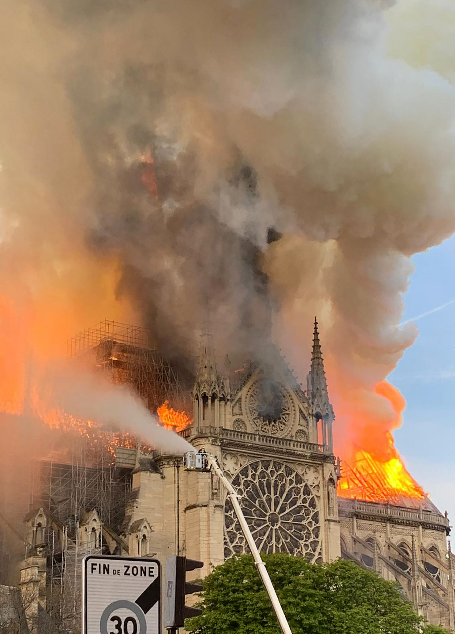 Notre Dame cathedral fire cause: Paris fire brigade fear