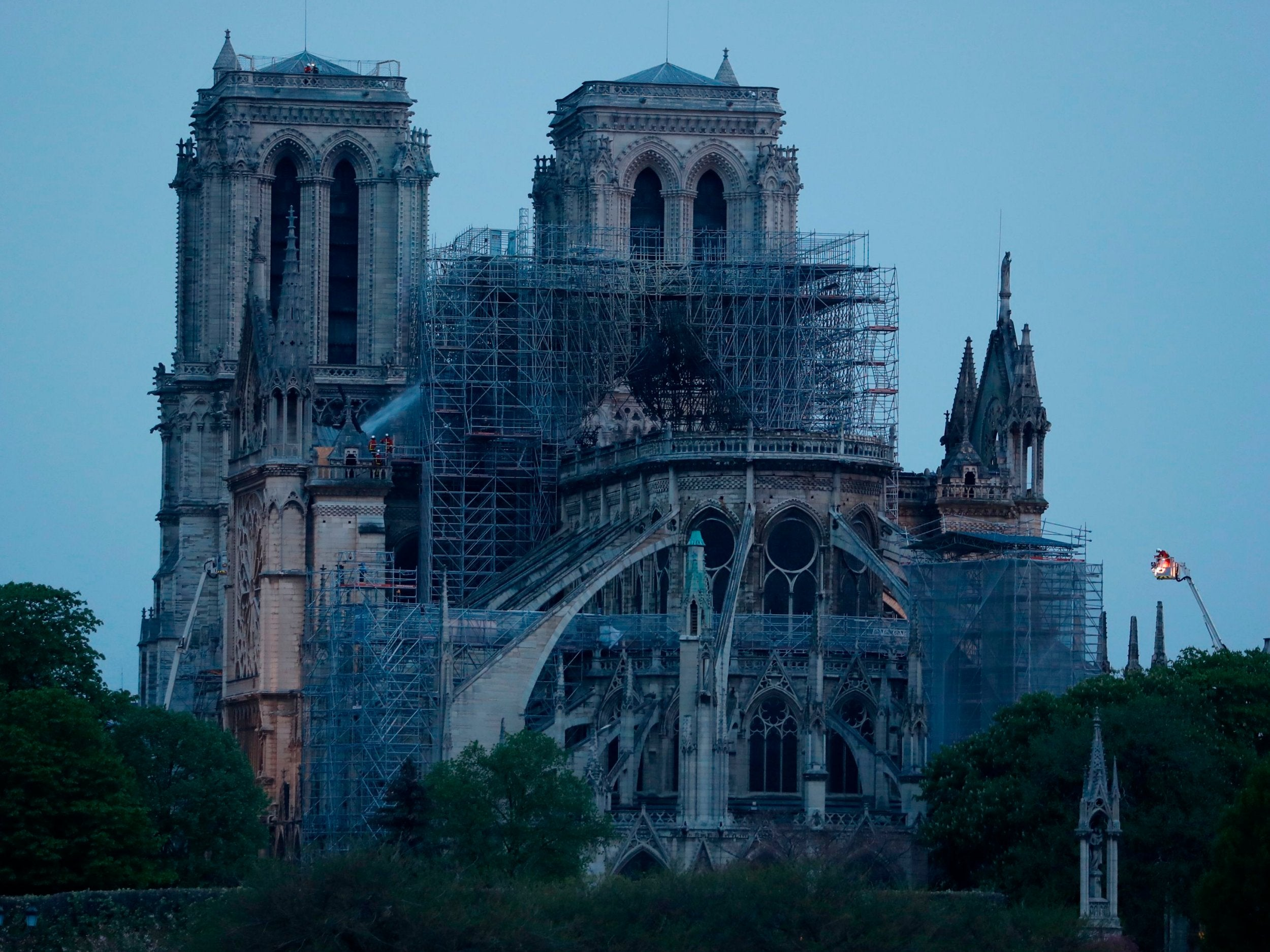 1cc92164f237 Notre Dame fire  Macron announces fundraising campaign saying cathedral   will be rebuilt  - here s how to donate