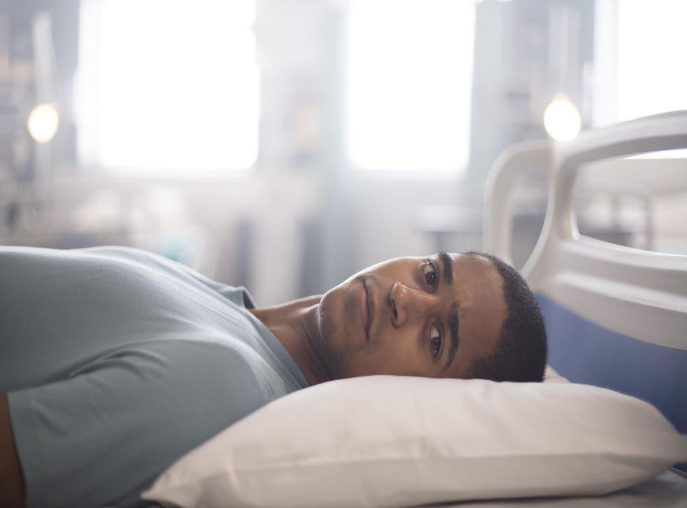Alfred Enoch plays paraplegic soldier Jamie McCain in 'Trust Me'