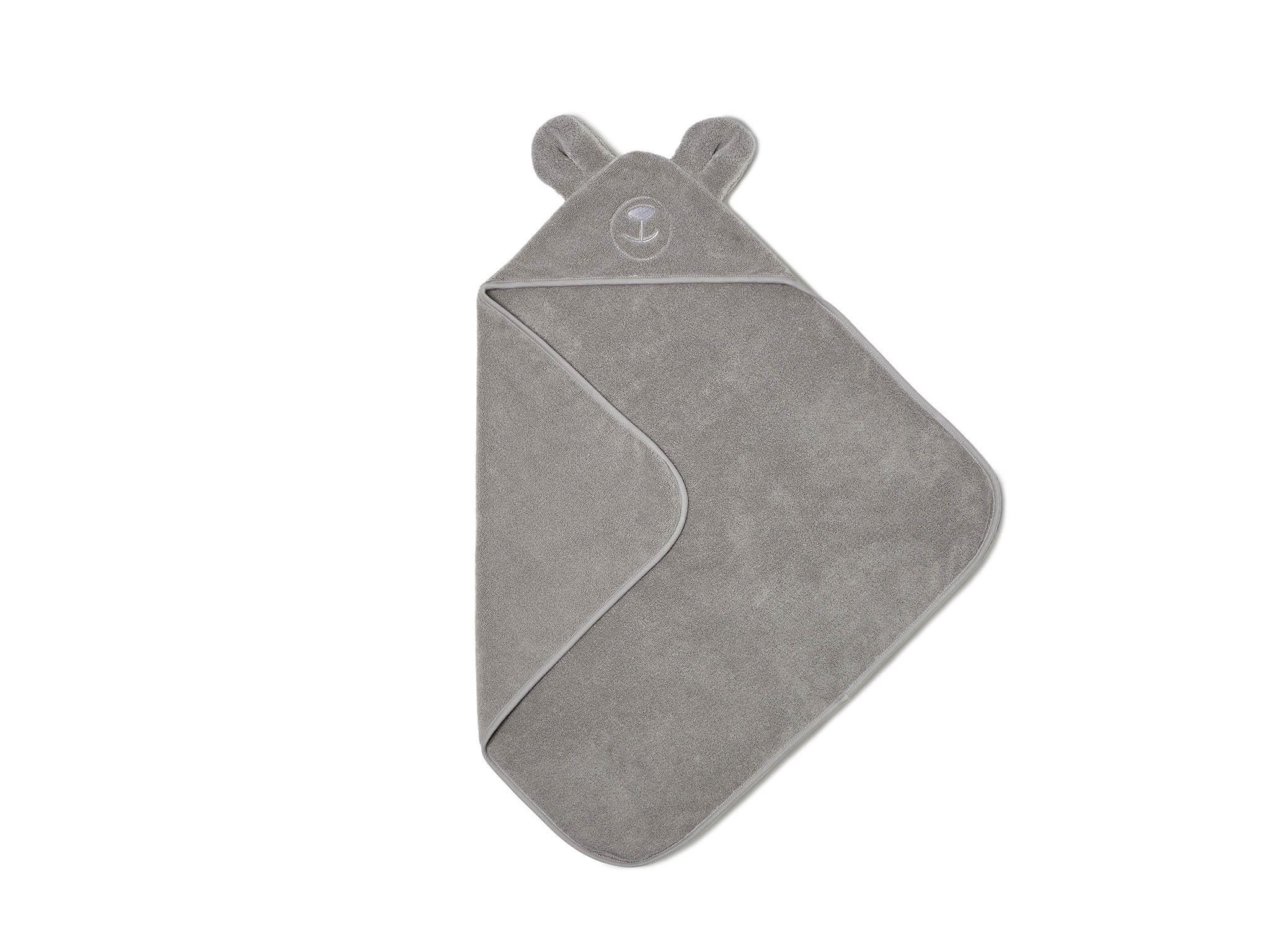 Organic hooded bear towel