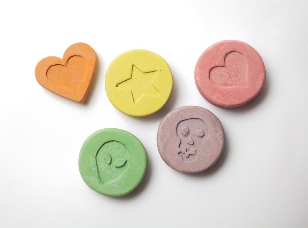 File image of ecstasy pills.