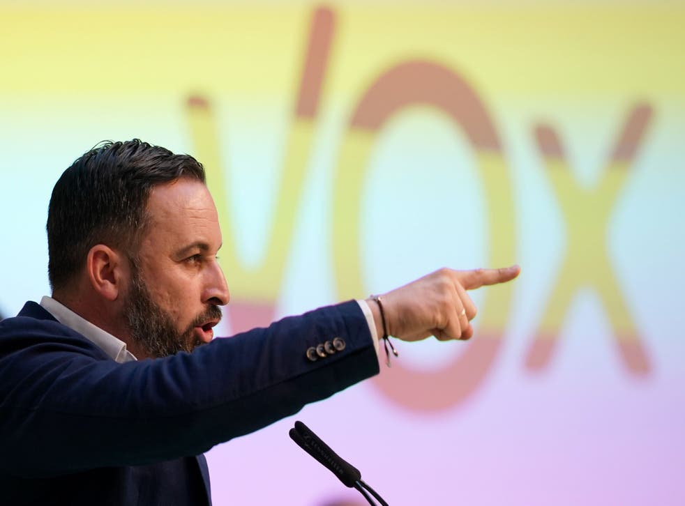 Santiago Abascal, leader of Spanish far-right party Vox