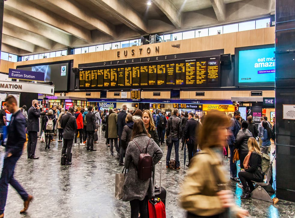 Euston station is shut during Easter weekend