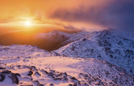 Bowfell mountain, Lake District, Cumbria