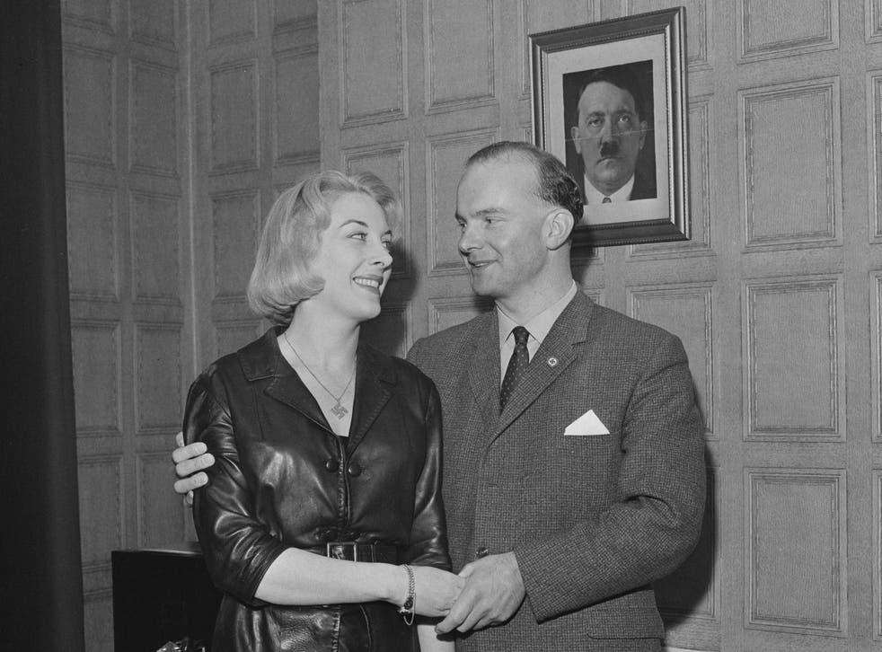 Partners in hate: Colin Jordan and Françoise Dior in 1963, the year of their marriage