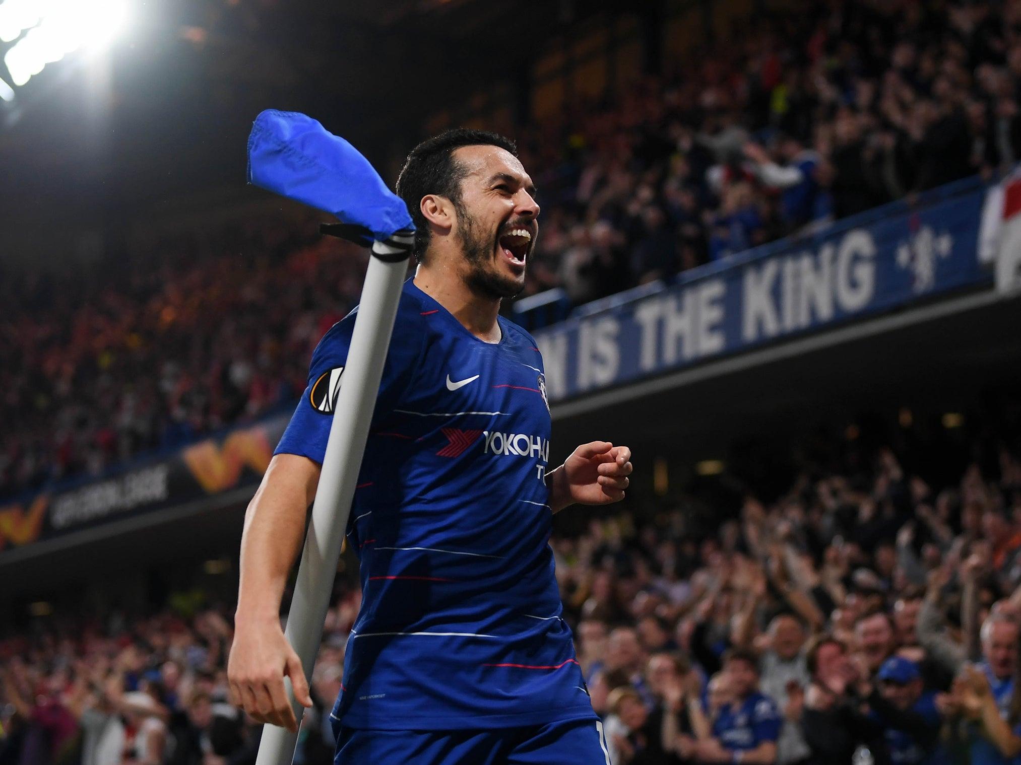 Chelsea vs Slavia Prague result: Pedro sends Blues through to Europa League semi-finals on fraught night