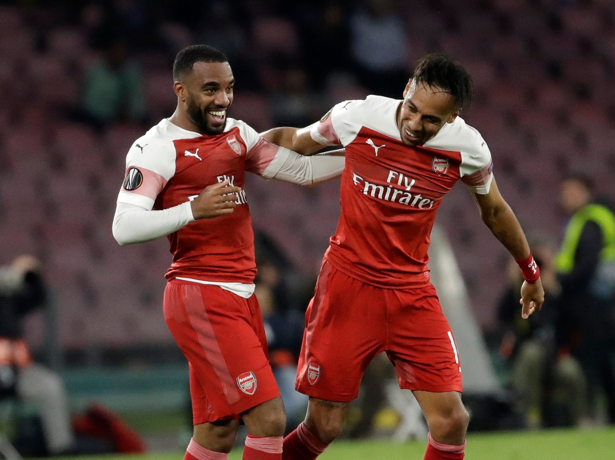 Napoli vs Arsenal player ratings: Alexandre Lacazette and Pierre-Emerick Aubameyang impress in win