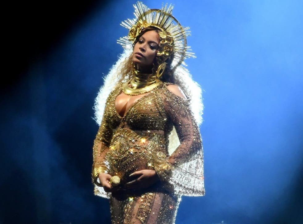 A pregnant Beyoncé at the 2017 Grammys. The star has since spoken of her struggle to balance work and family