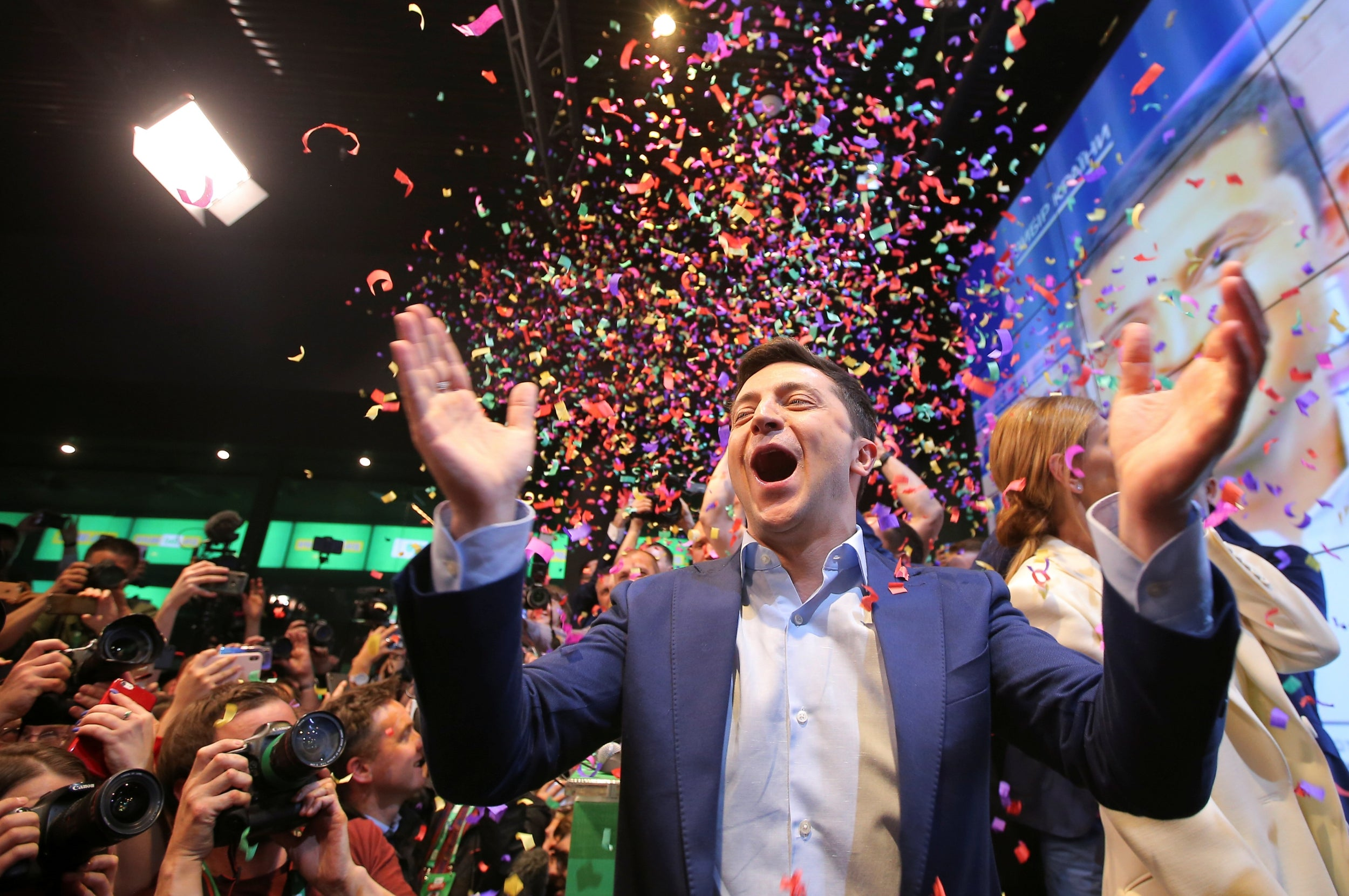 Ukrainian: Lawyer Turned Comedian Wins Presidential Election.