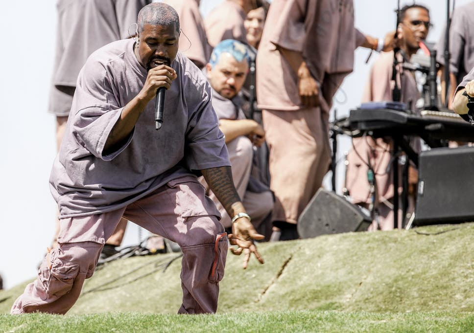 a8a9a823bf5a7 Kanye West sells  church clothes  at Coachella with socks costing ...