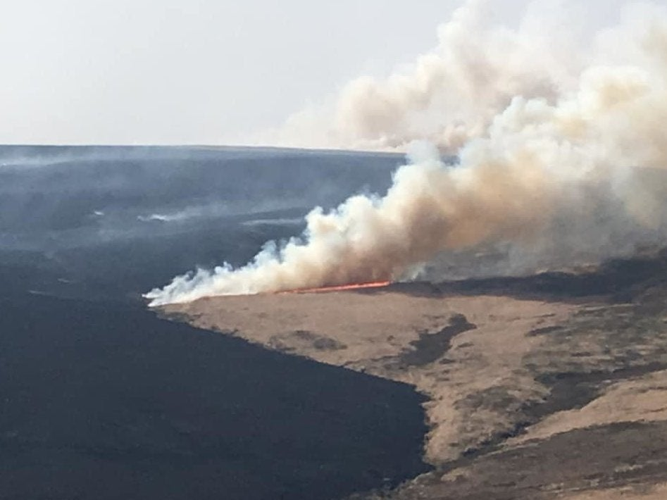 Three huge fires wreck Yorkshire moorland and wild habitats in record-breaking Easter heat